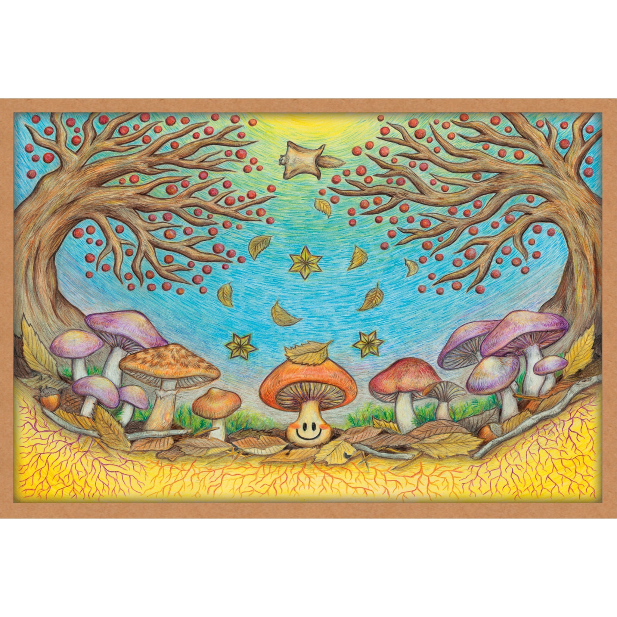 ポストカード『きのこ収穫祭』