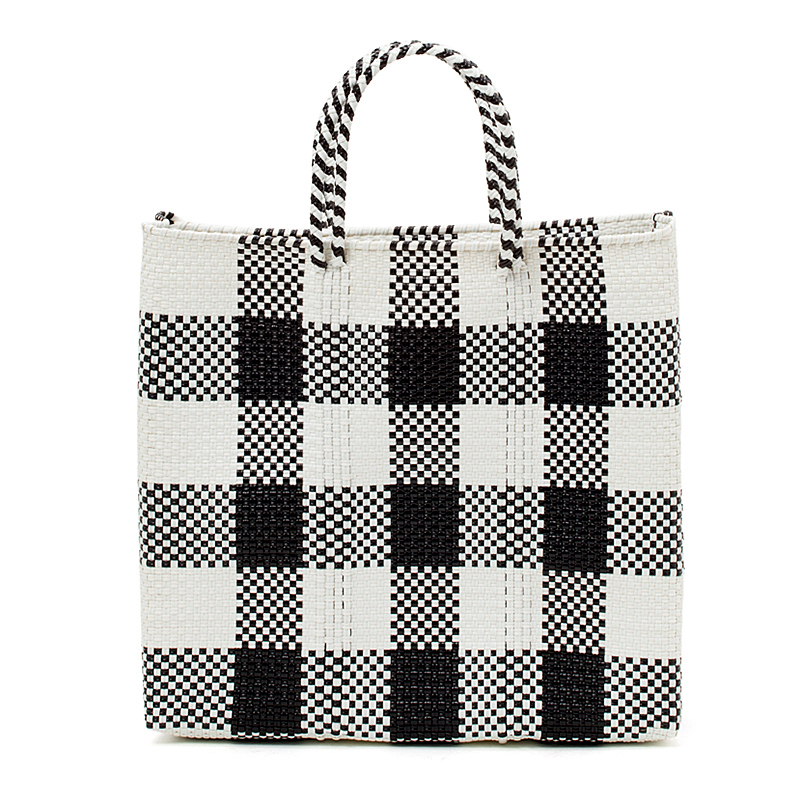 MERCADO BAG CHECK - White x Black(M)