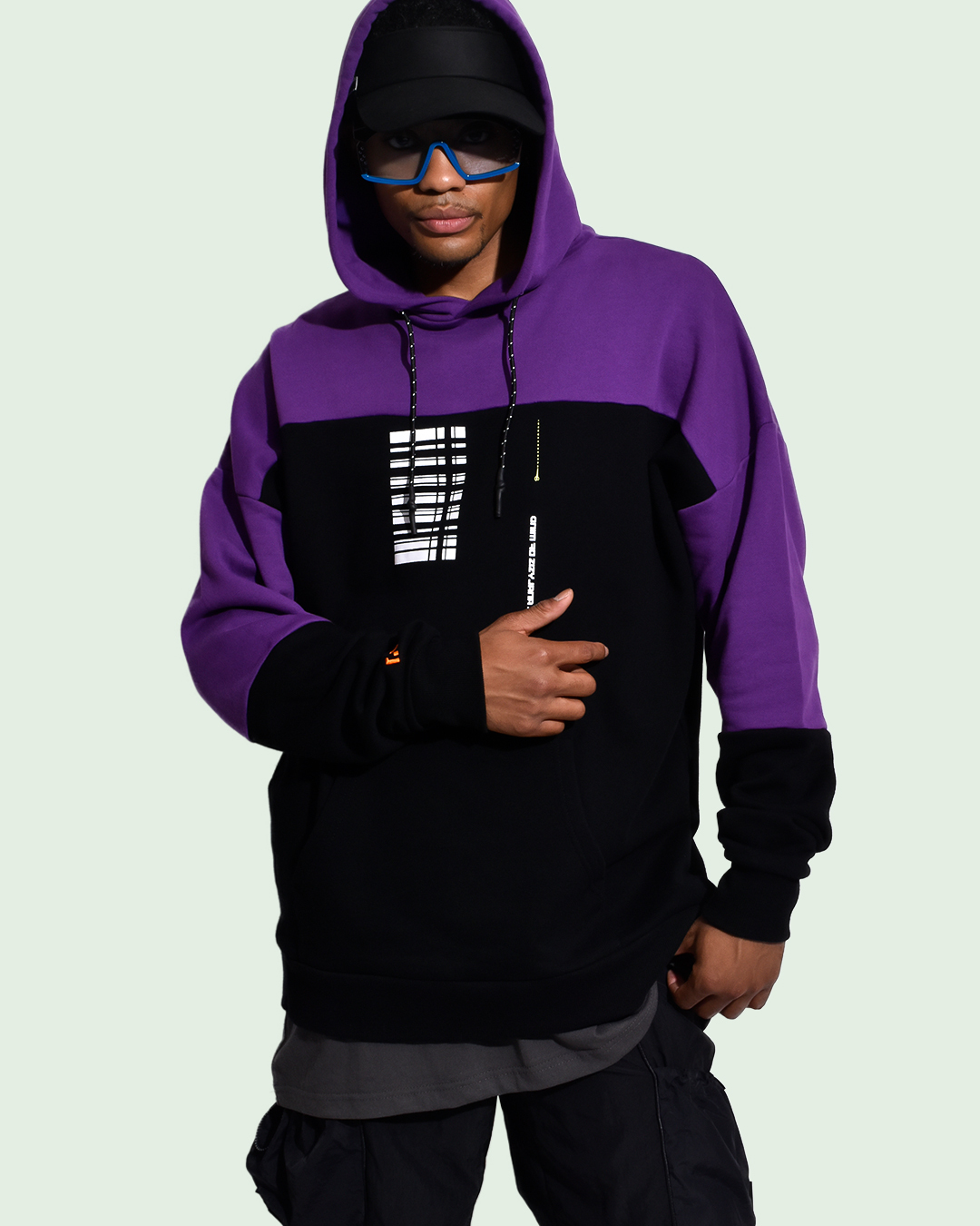 ANALYSIS HOODIE / BLACK-PUPLE