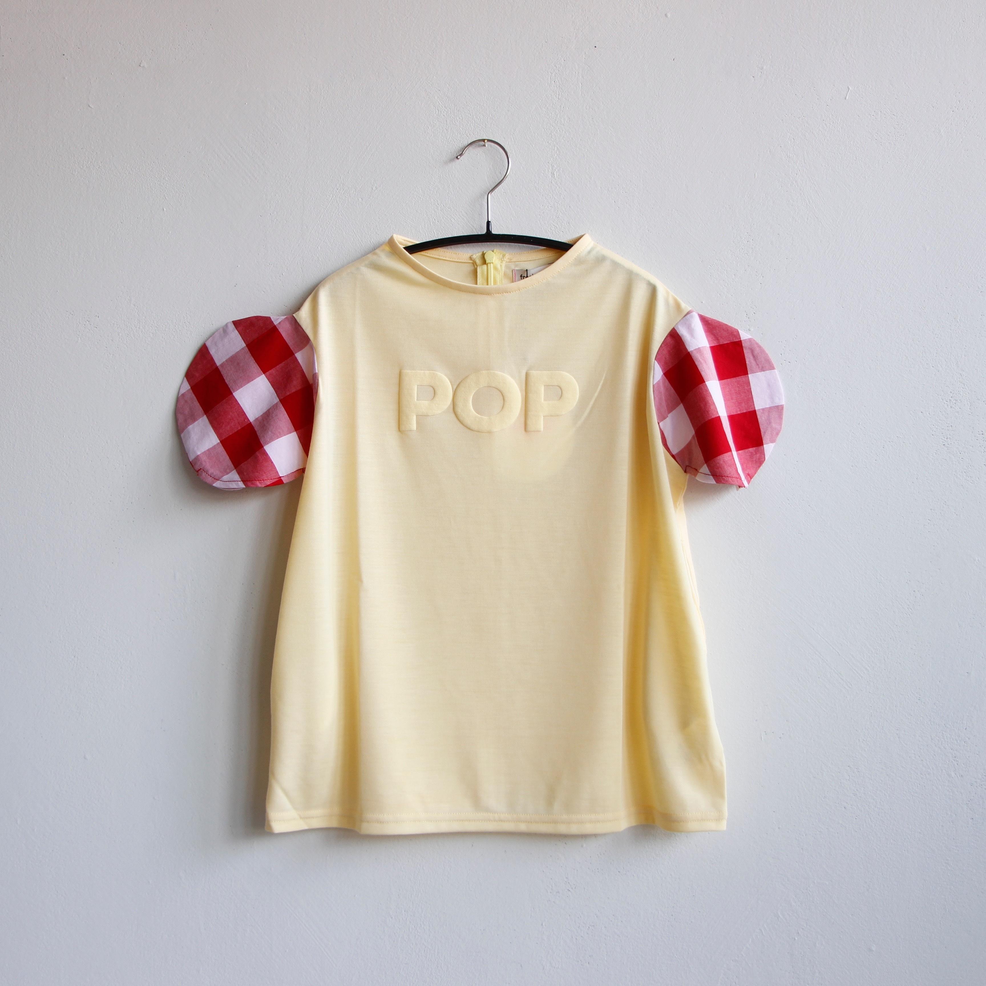 《frankygrow 2020SS》2DOTS POP T-SHIRT ONE-PIECE / yellow / LL