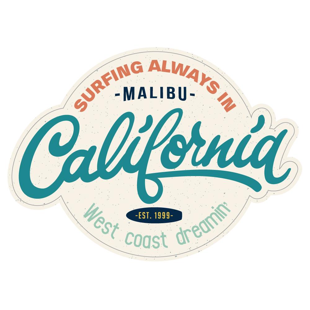 "118 California MALIBU ""California Market Center"" アメリカンステッカー スーツケース シール"