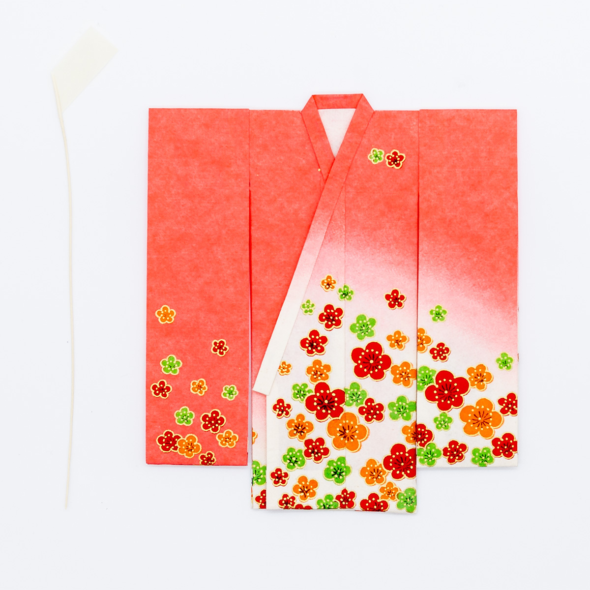 京の七夕さん(紙衣)お仕立上がり 女物柄 赤色