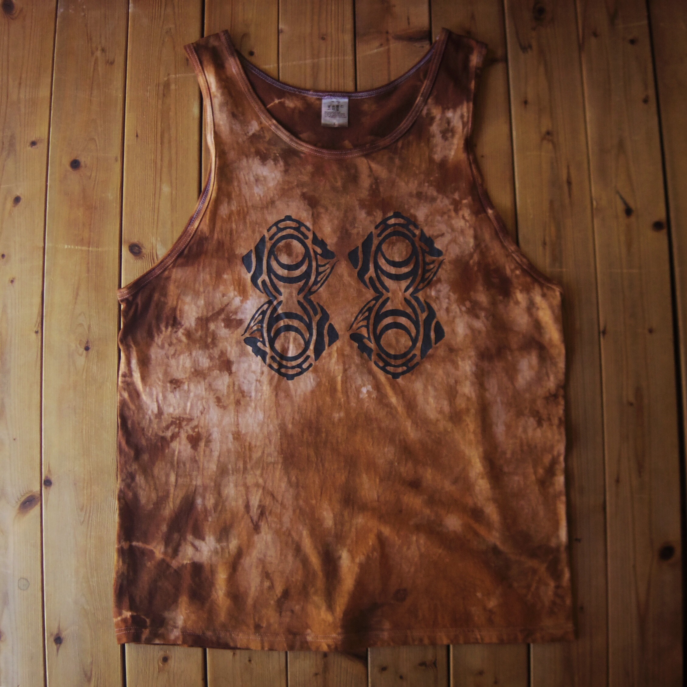 "TKHOME FACTORY ""ORIGINAL LOGO"" TANK TOP (Uneven dyeing) L #Brown"