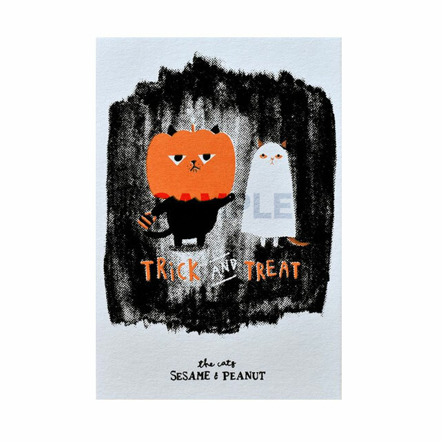 台湾  手摺りポストカード Trick & Treat