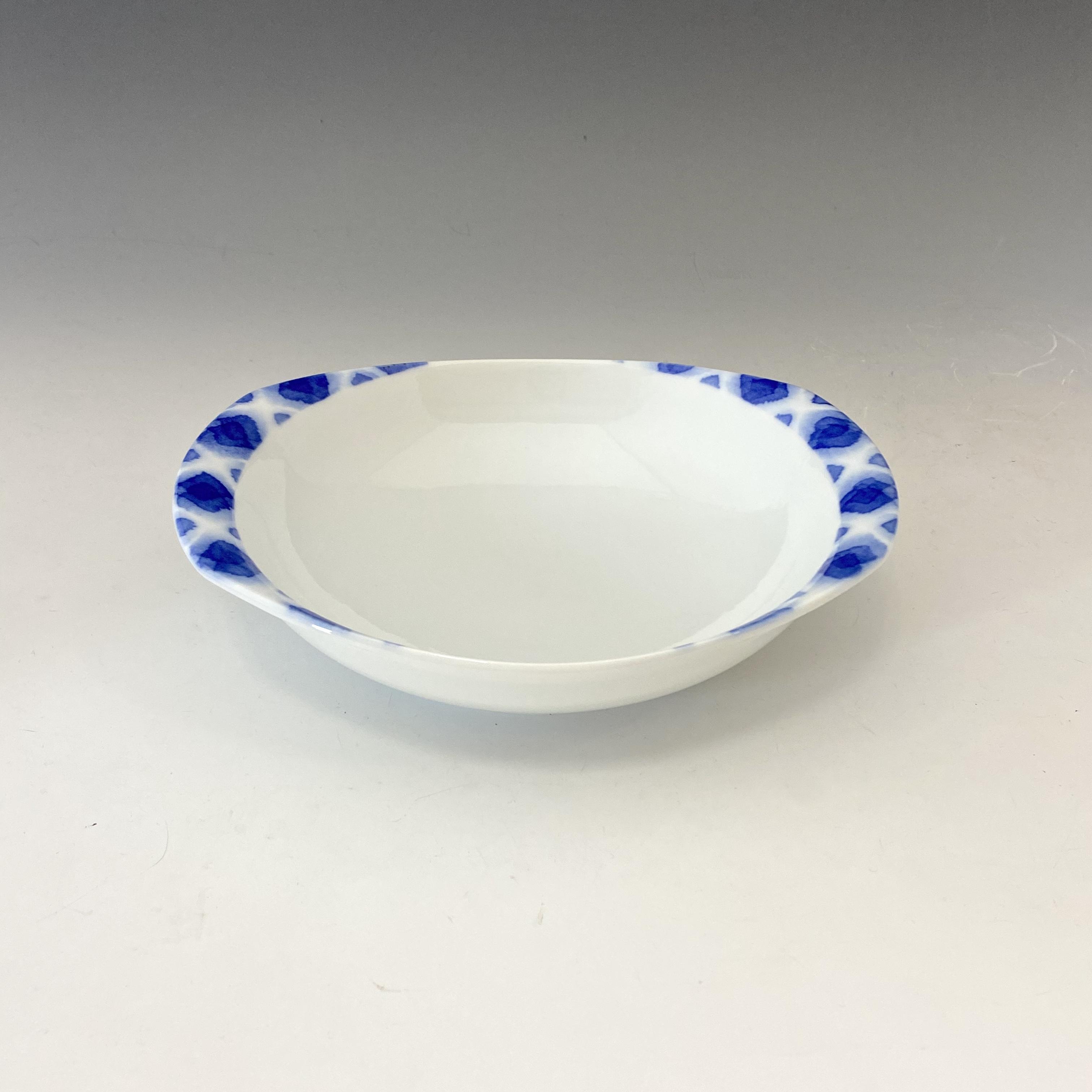 【中尾英純】和紙染ぼかし文カレー皿(小)