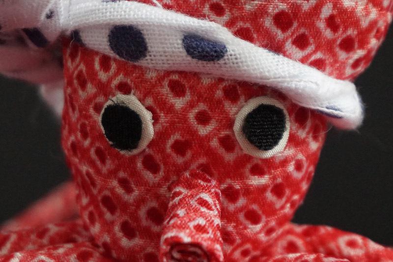 着物、和服の古布人形「TAKO」 - 画像4
