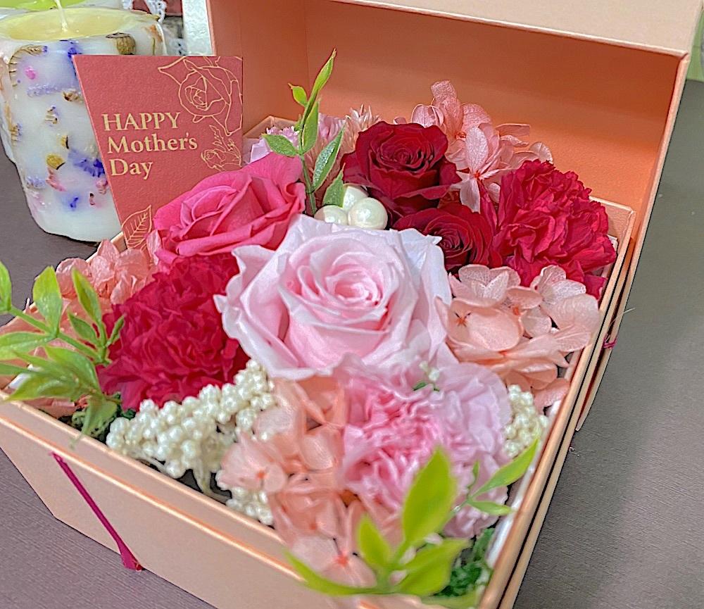 母の日 / Happy Mother Day プリザブドフラワーボックスタイプ