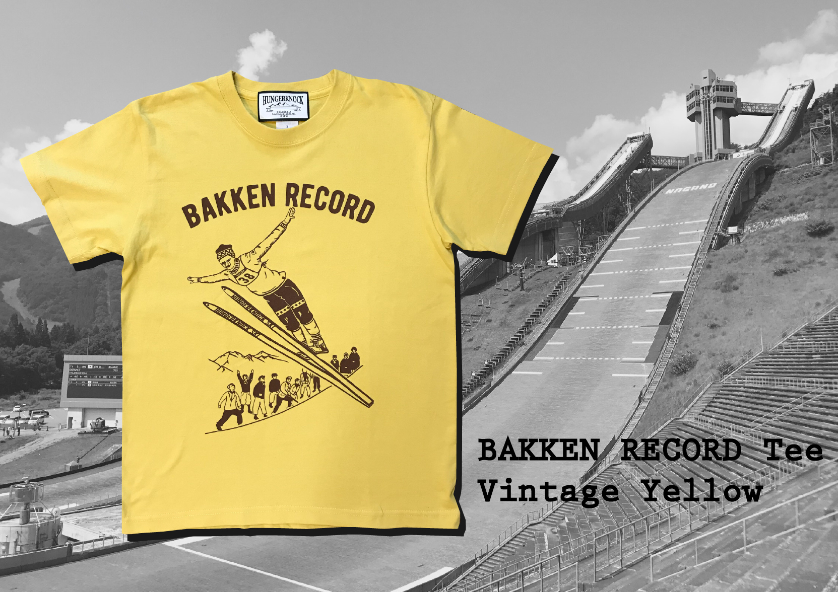 Bakkenn Record Tee / vintage yellow