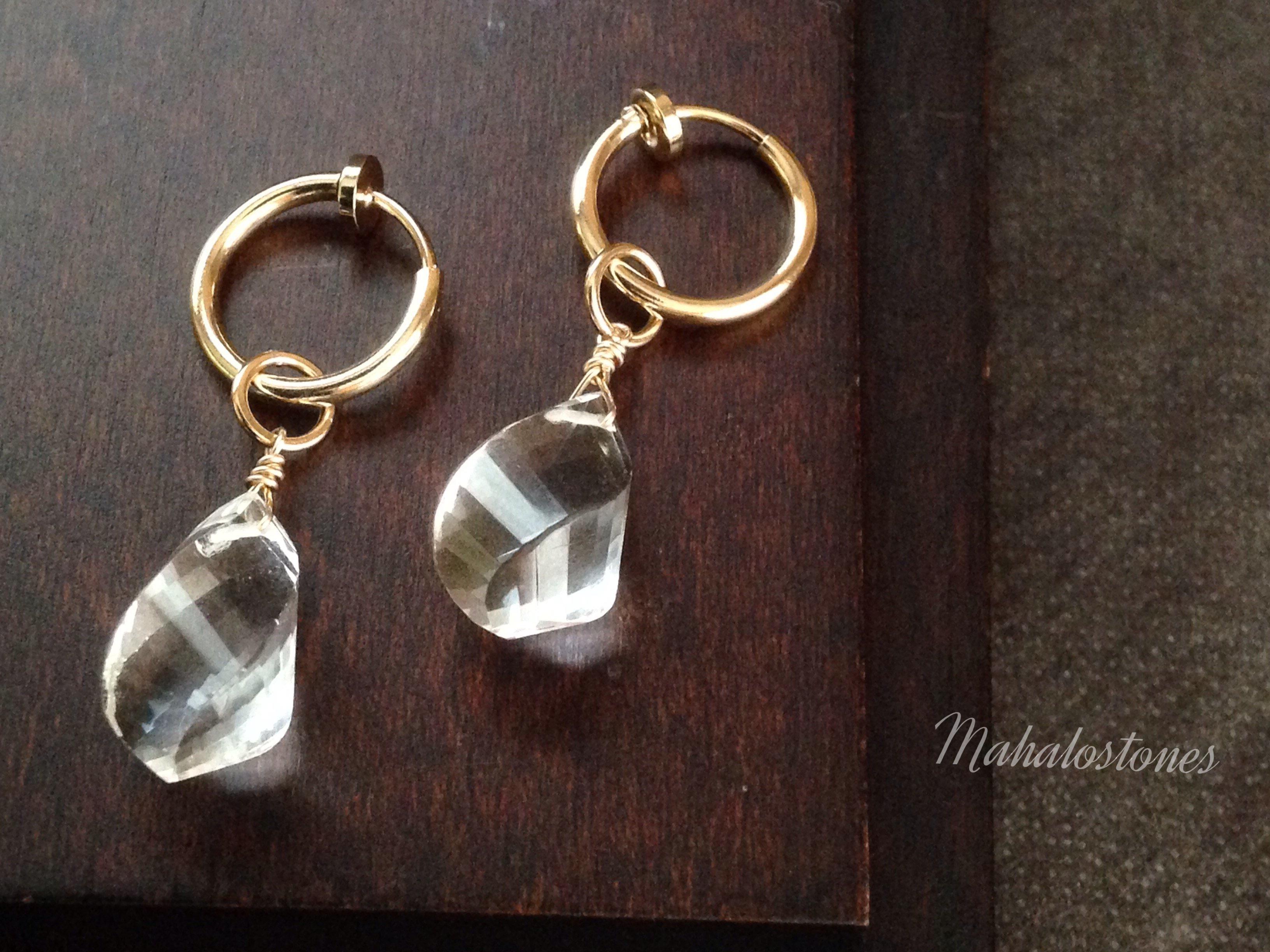 水晶のイヤリング