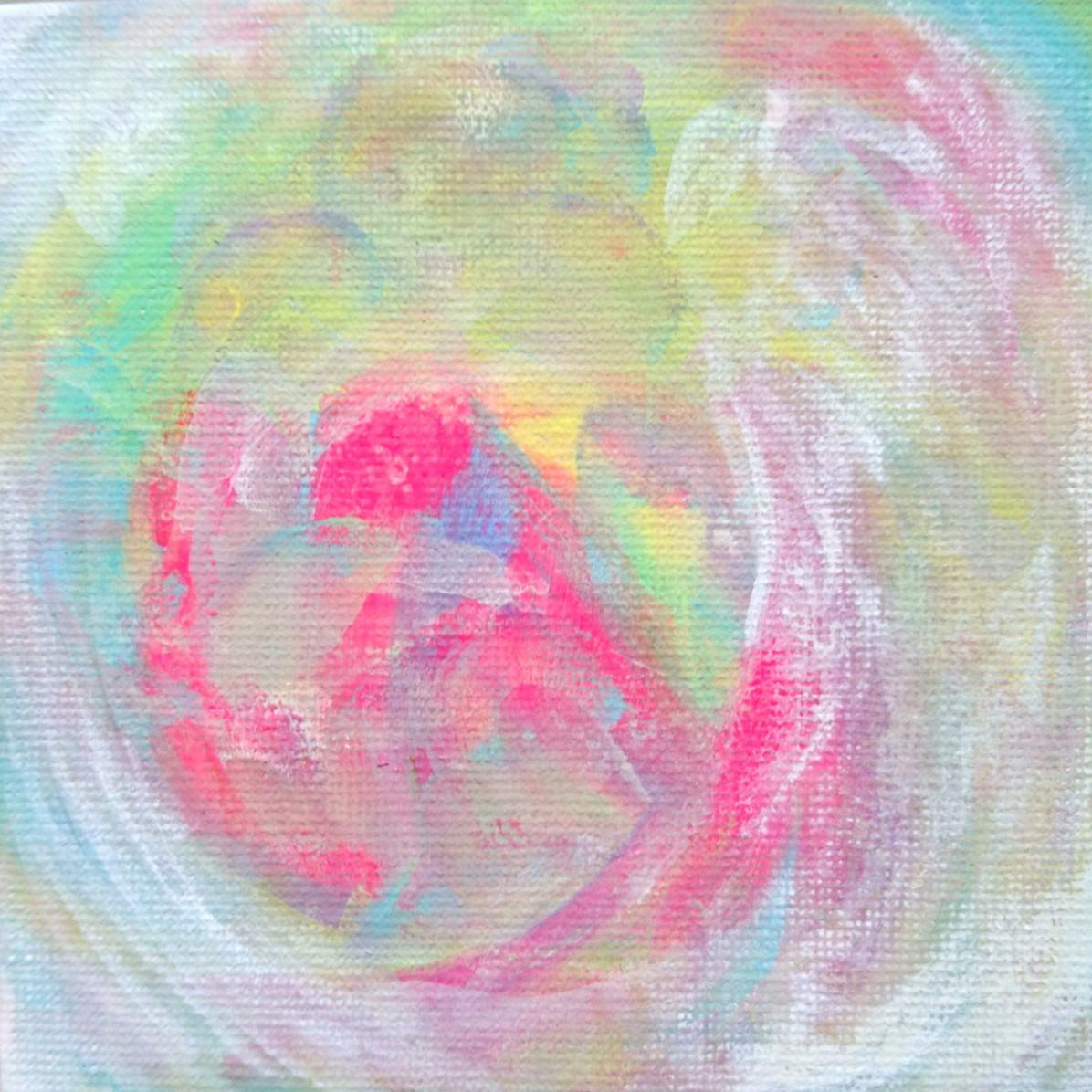 絵画 絵 ピクチャー 縁起画 モダン シェアハウス アートパネル アート art 14cm×14cm 一人暮らし 送料無料 インテリア 雑貨 壁掛け 置物 おしゃれ ロココロ 抽象画 現代アート 画家 : ごま 作品 : しゃぼん玉。