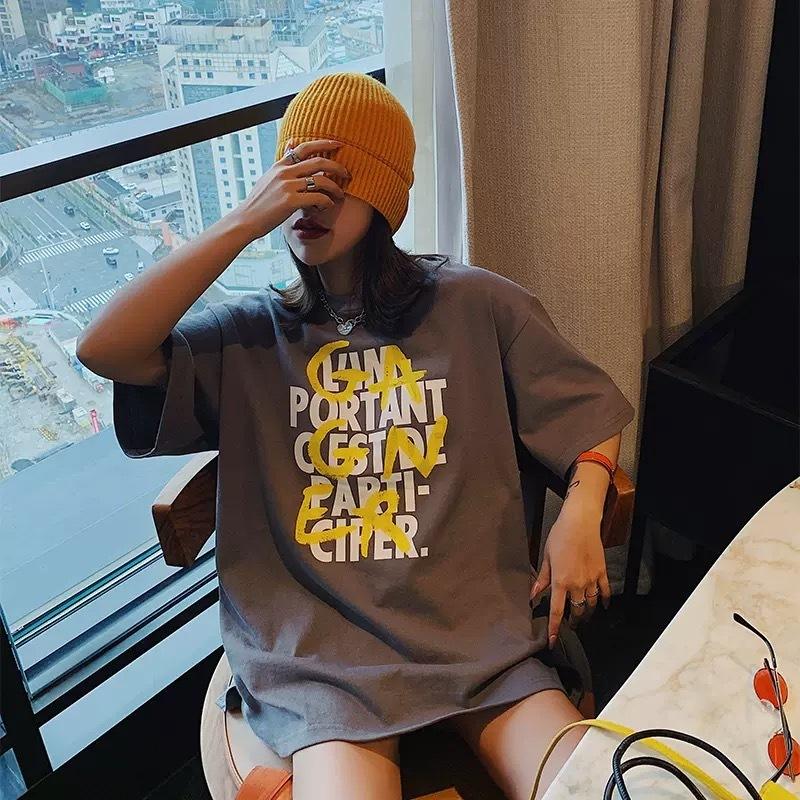 yellow paint logo t-shirt