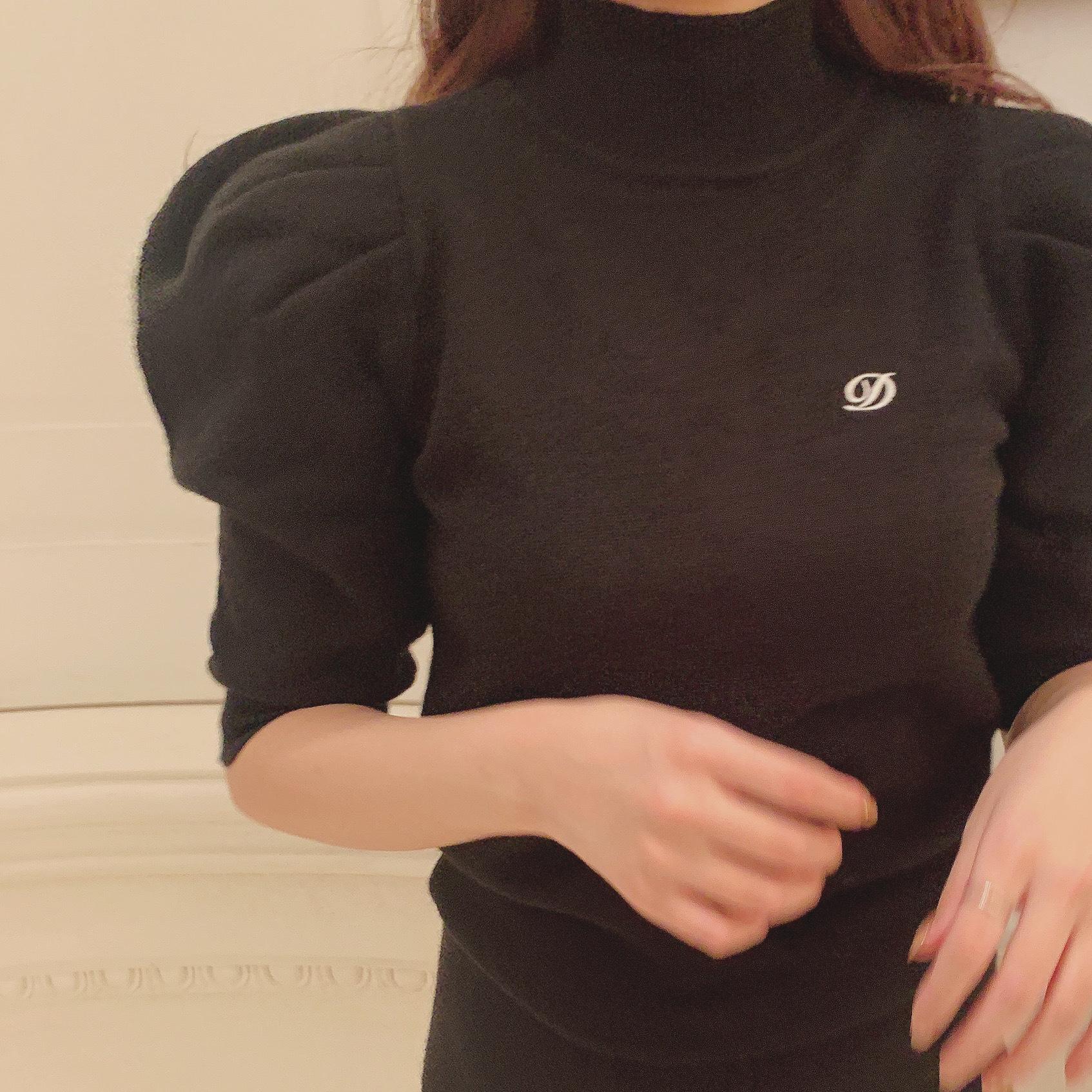 Désir original logo knit tops