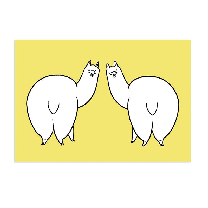 アルパカメッセージカード [おしり]