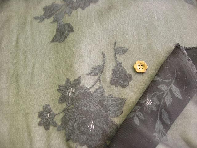 エステル混オパールジョーゼット・ラメ入り(織物) ブラック SNT-005