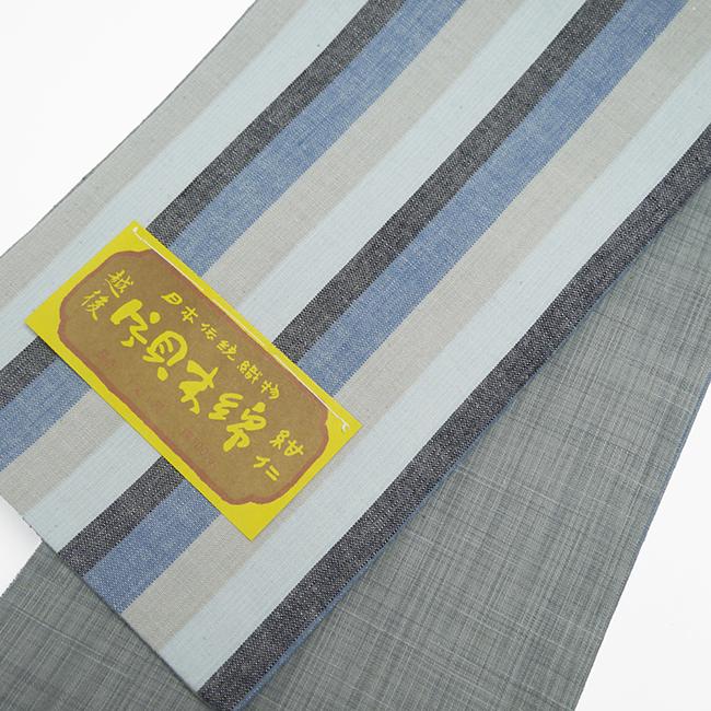 半幅帯-片貝木綿 かつお縞