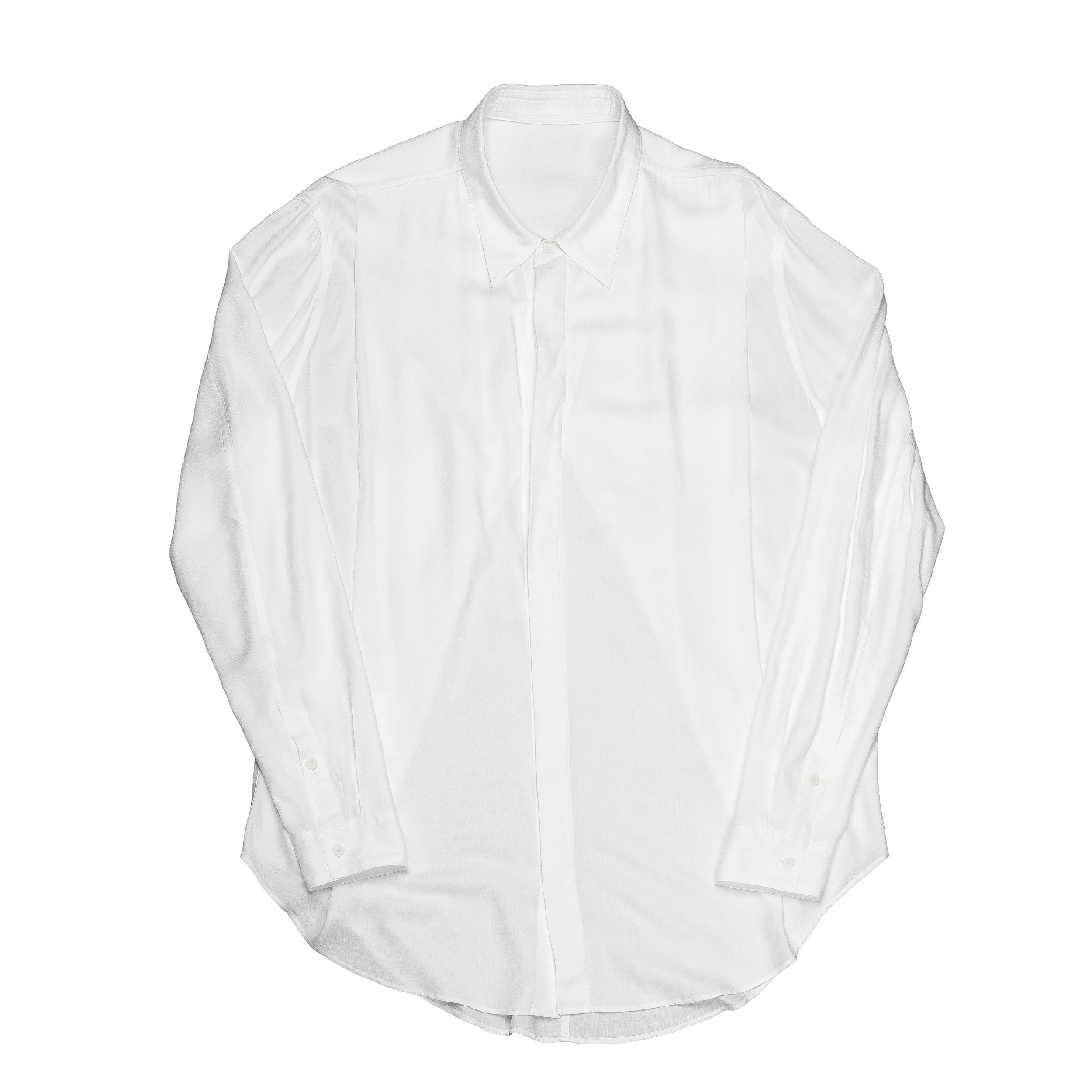 667SHM1-WHITE / タックドシャツ