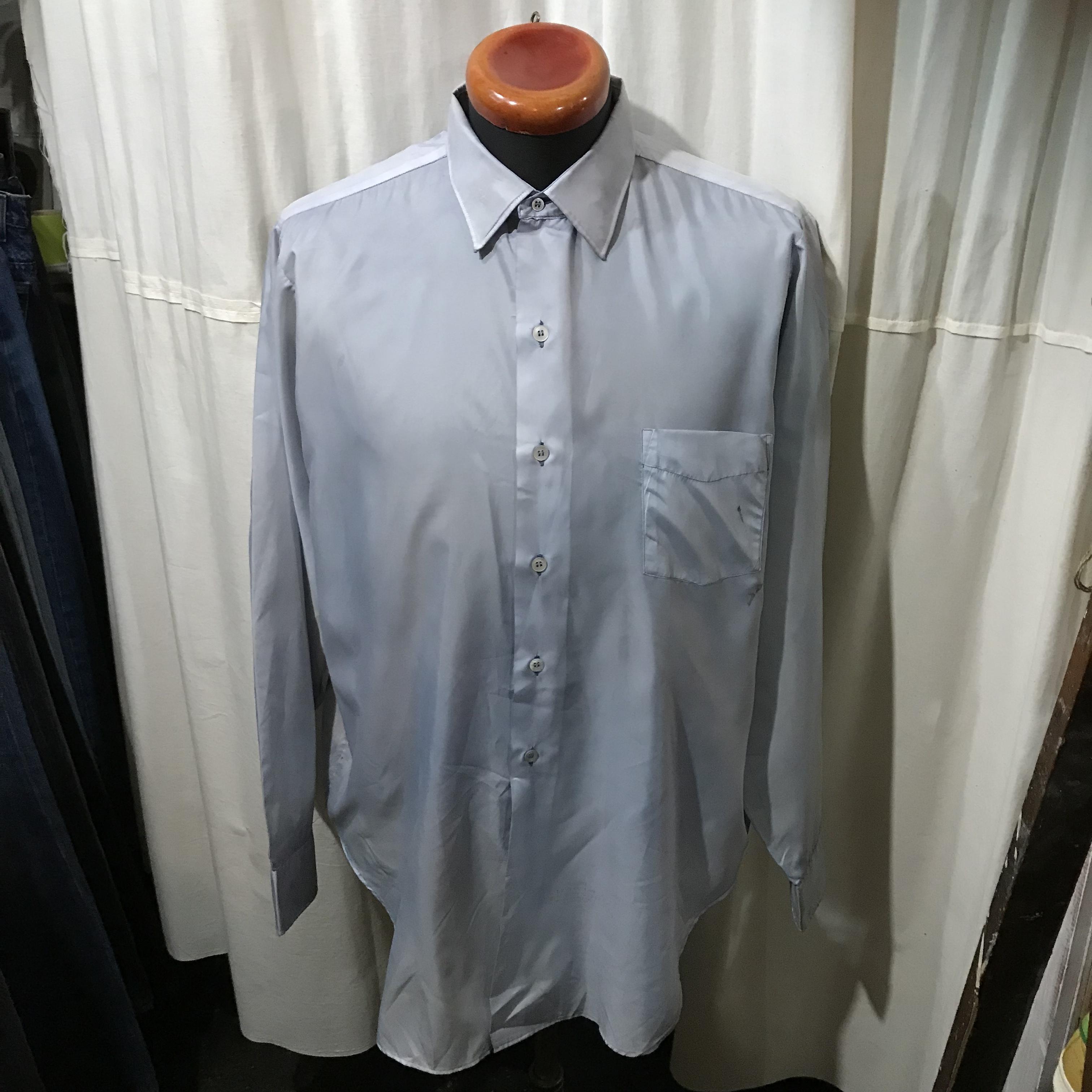 60's~ vintage PILGRIM ピルグリム 長袖シャツ ポリエステル100% メンズXL~XXL