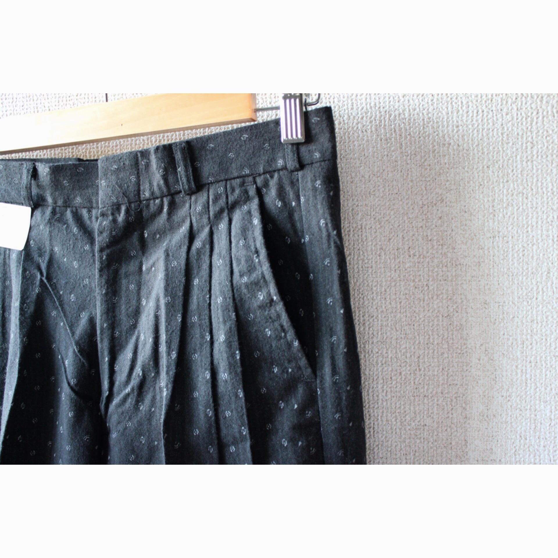 Vintage dead stock tiny print slacks