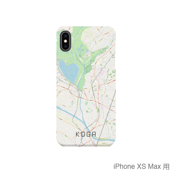 【古河】地図柄iPhoneケース(バックカバータイプ・ナチュラル)