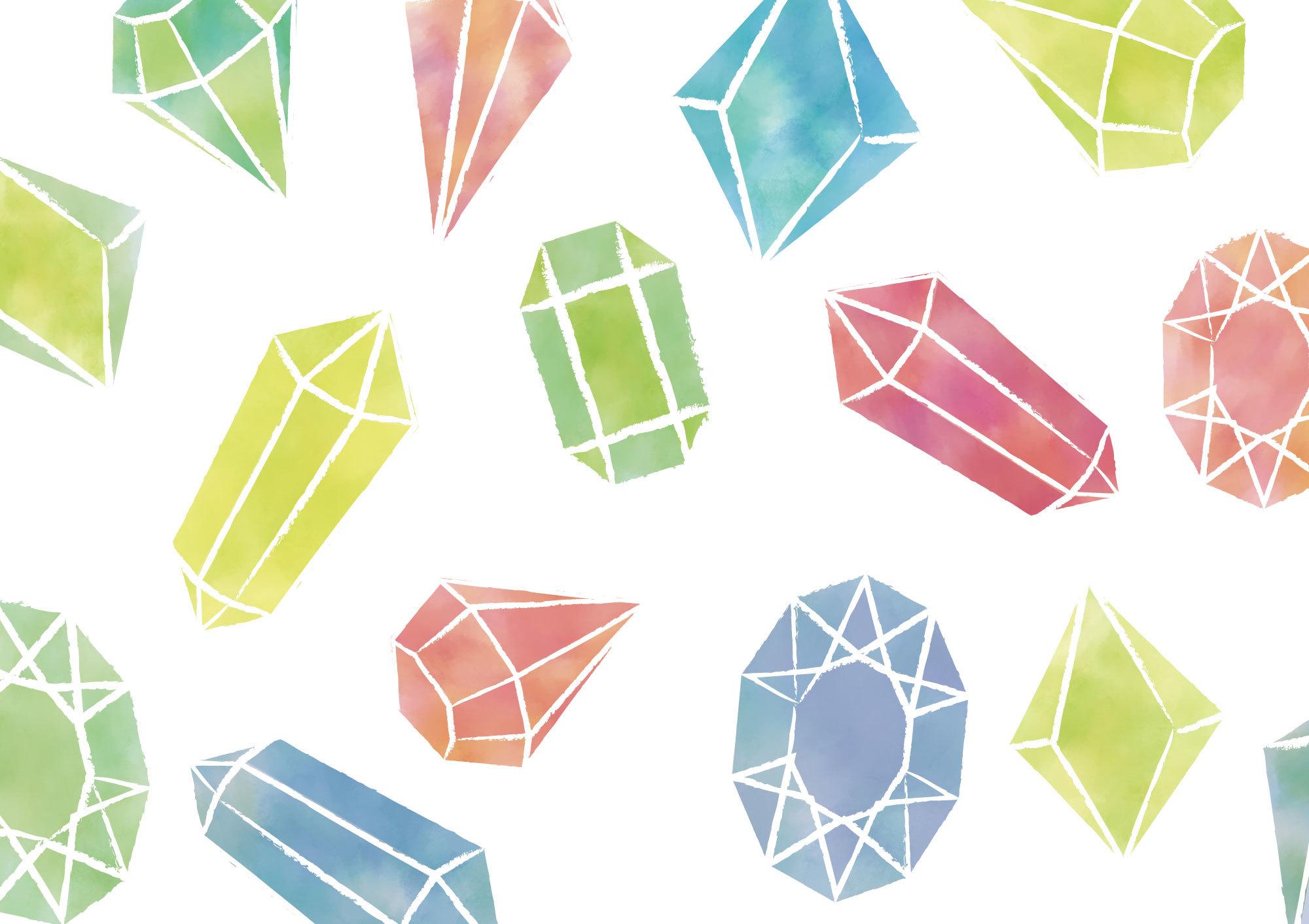 個人利用キラキラ宝石のイラスト素材集 Dreams And Horizon