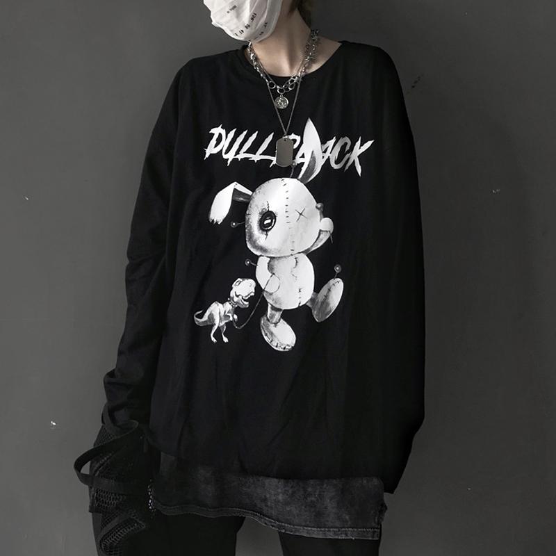 【tops】動物柄カジュアル目立つアルファベットTシャツ23178445