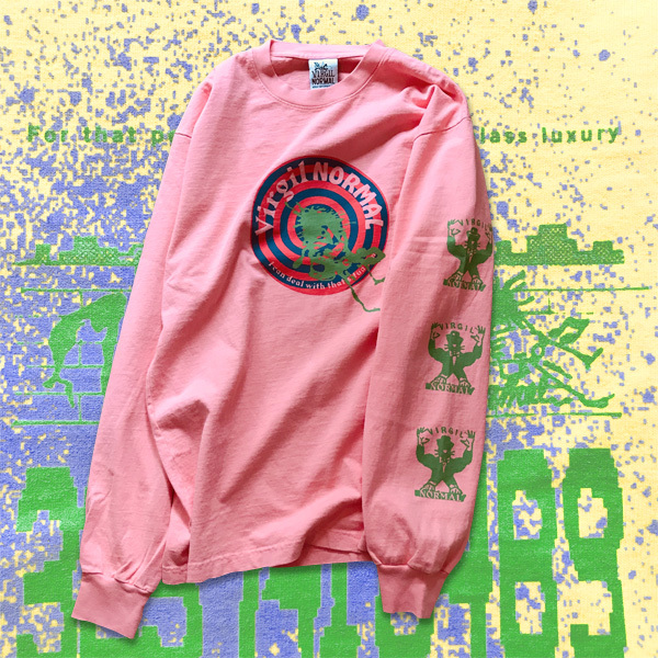VIRGIL NORMAL | Personal Touch Heavy Weight LS Pink T-shirt