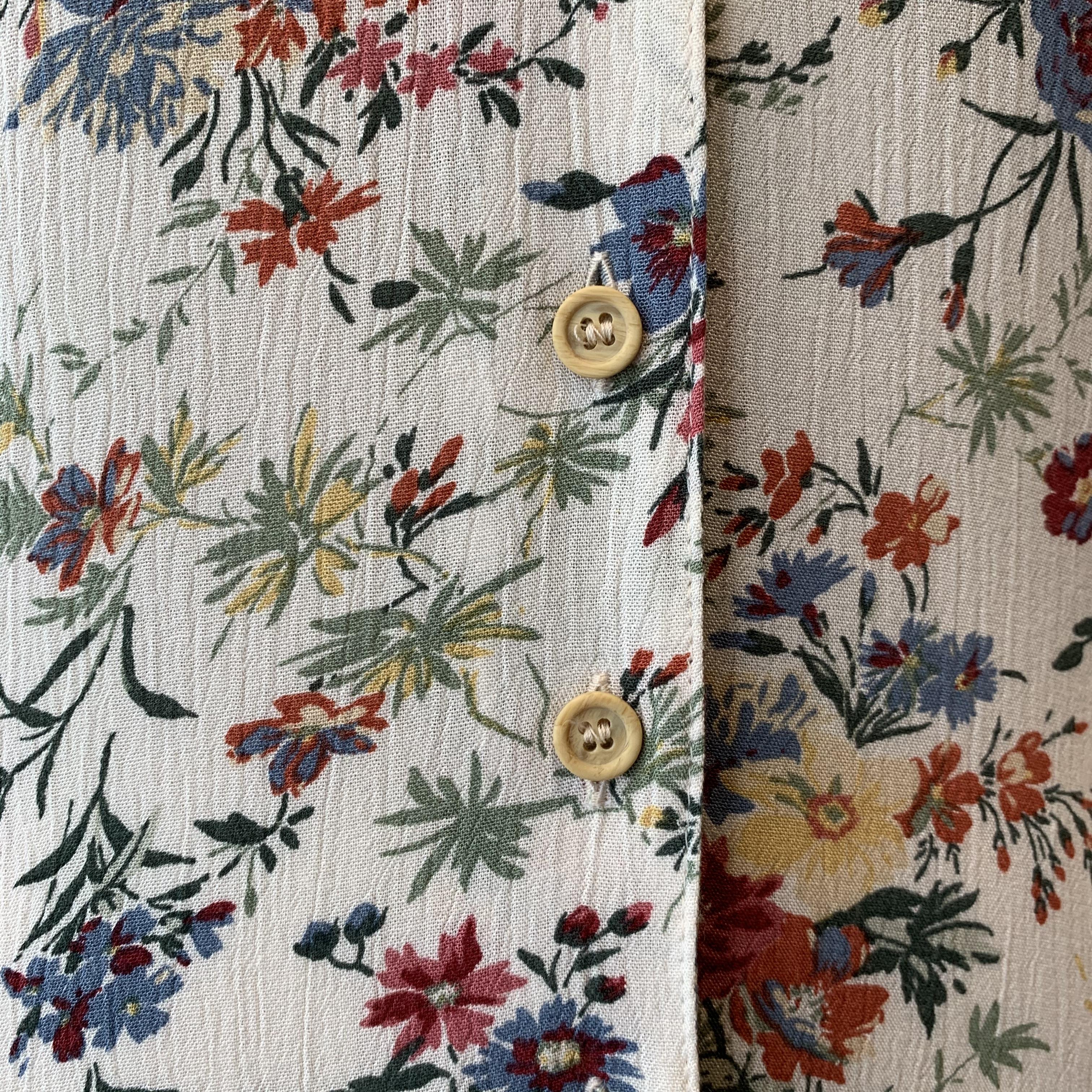 vintage flower design maxi onepiece