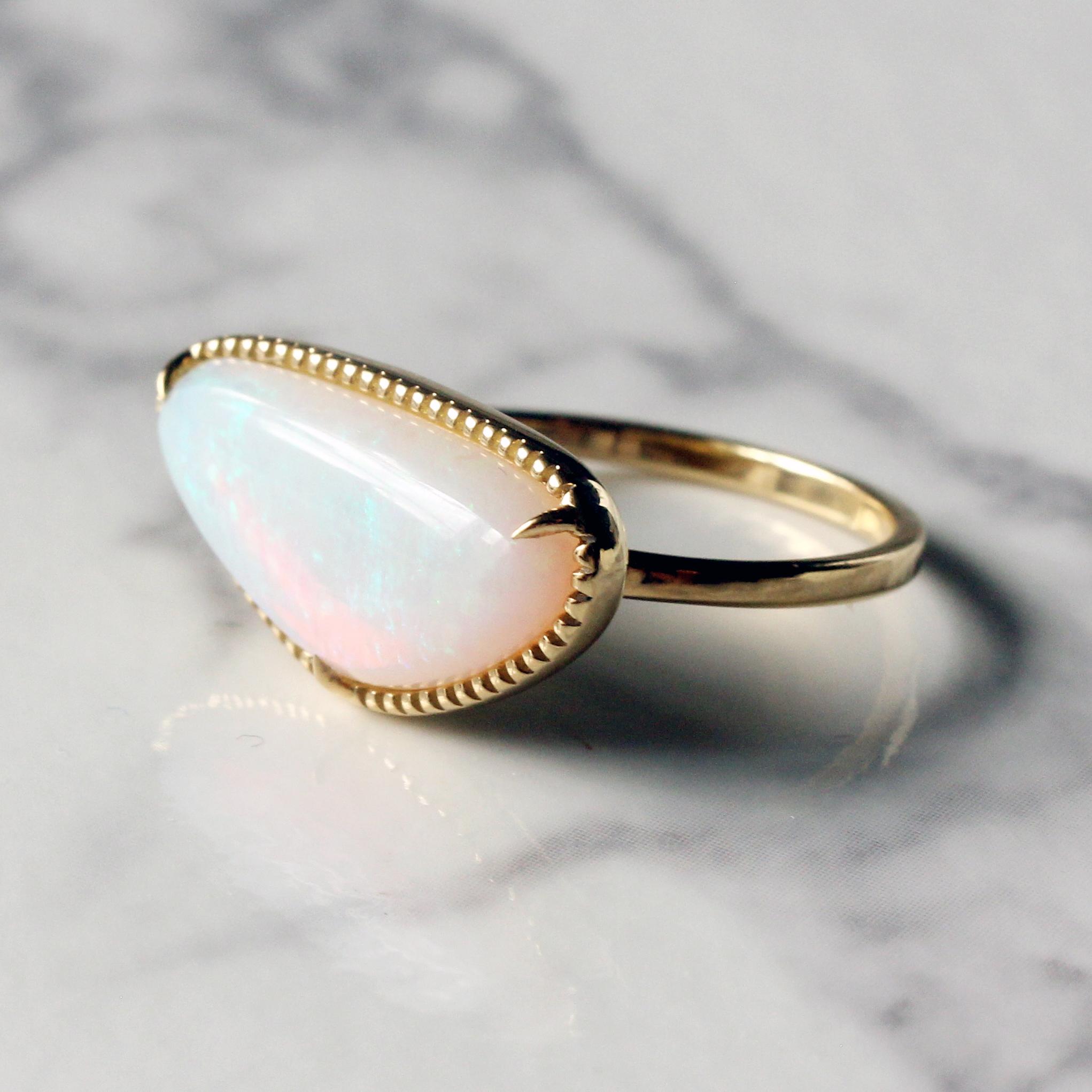 Opal ring  / K18