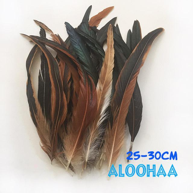 ロングフェザー 【ナチュラル】25~30cm タヒチアン 衣装 材料 ルースターテール 染め 羽根