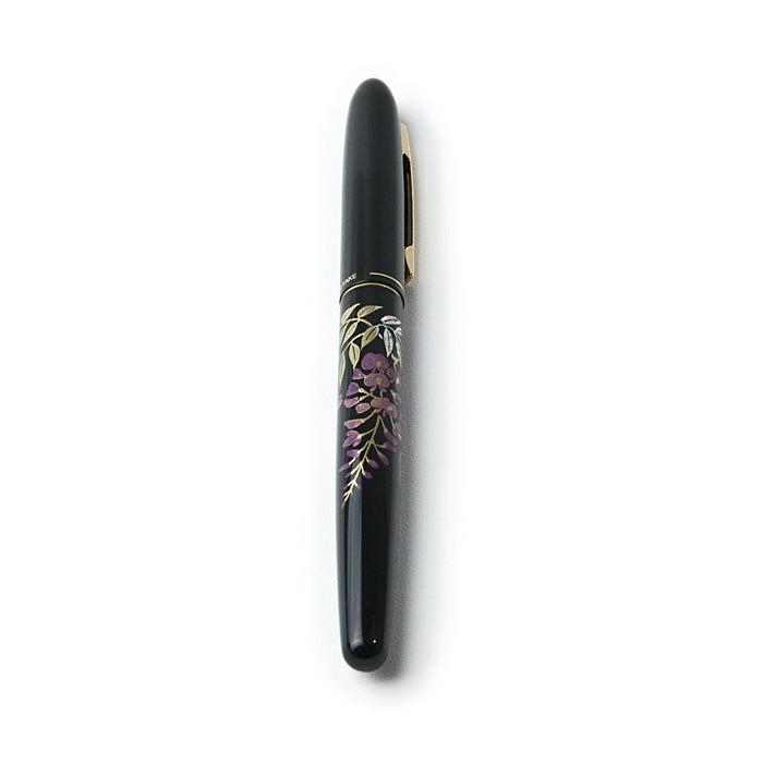 蒔絵風万年毛筆 〈藤の花〉