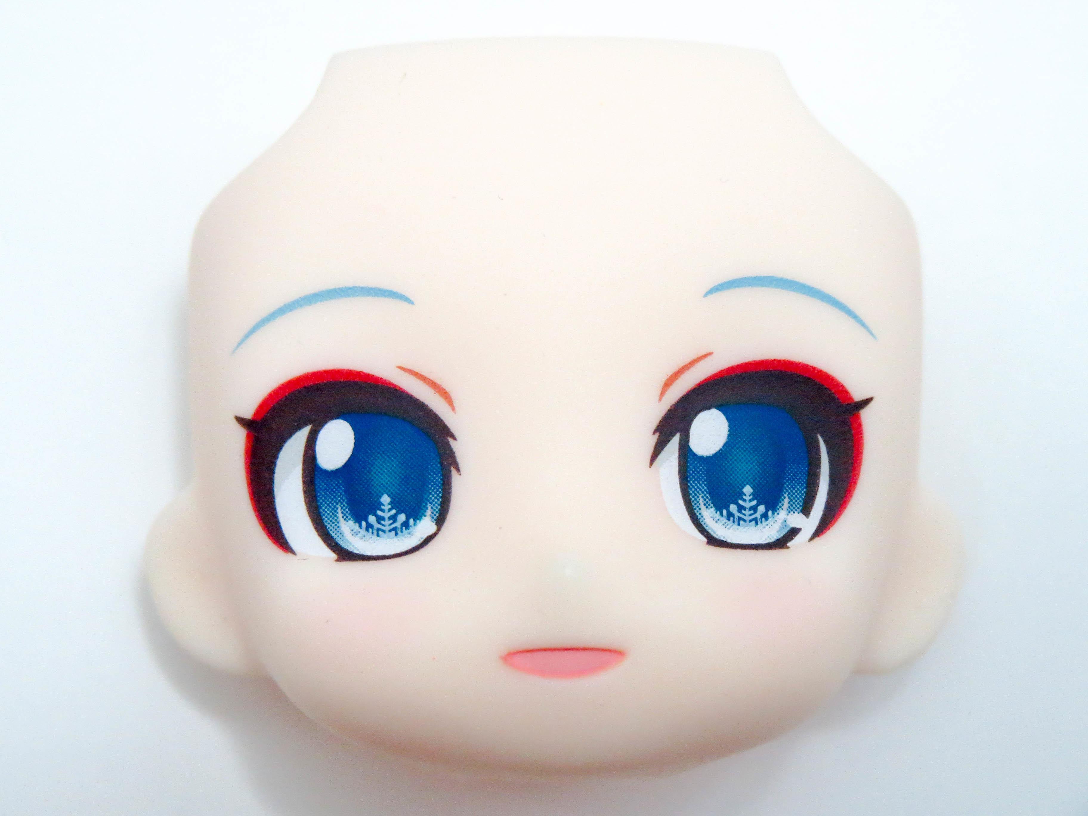 【SALE】【850】 雪ミク タンチョウ巫女Ver. 顔パーツ 微笑み顔 ねんどろいど