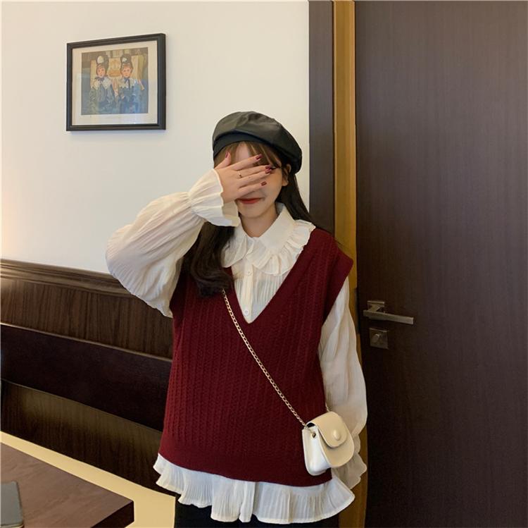 〈リクエストアイテム〉ゆるだぼニットベスト【loose knit vest】