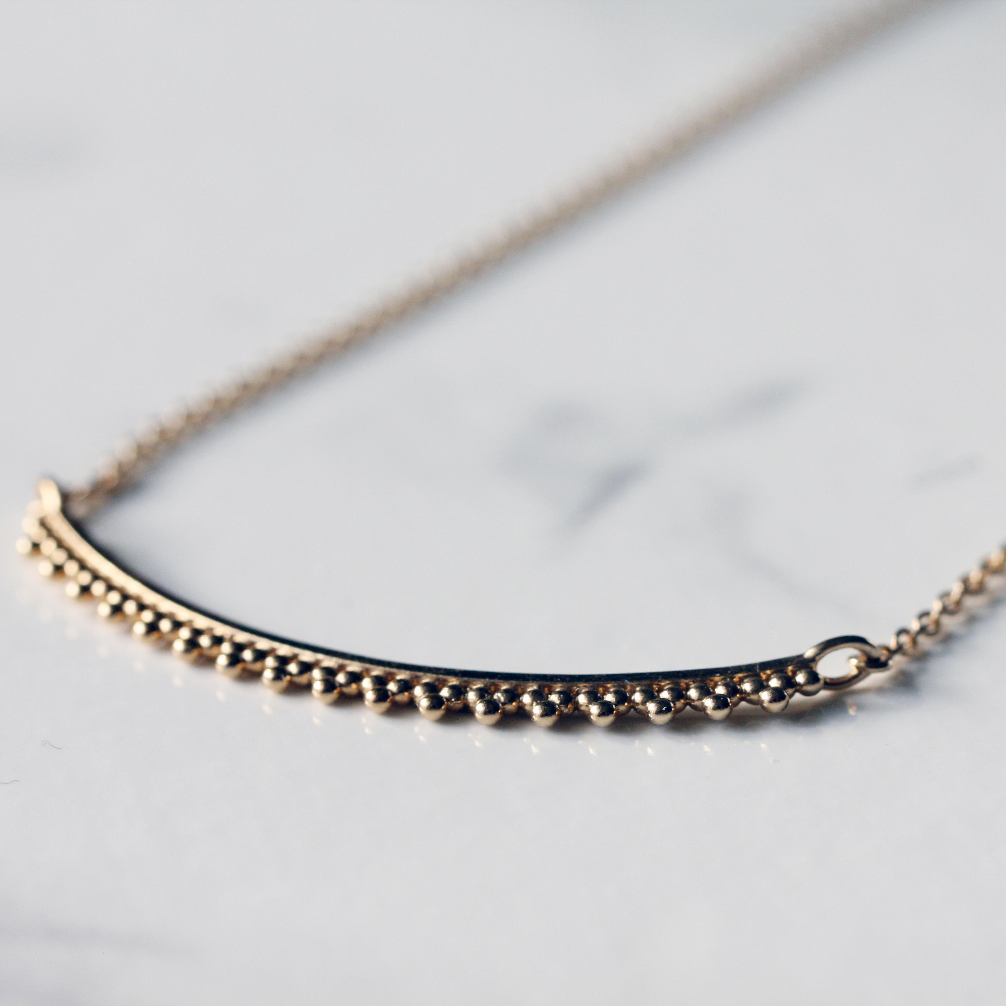 Triangle grain necklace / K18