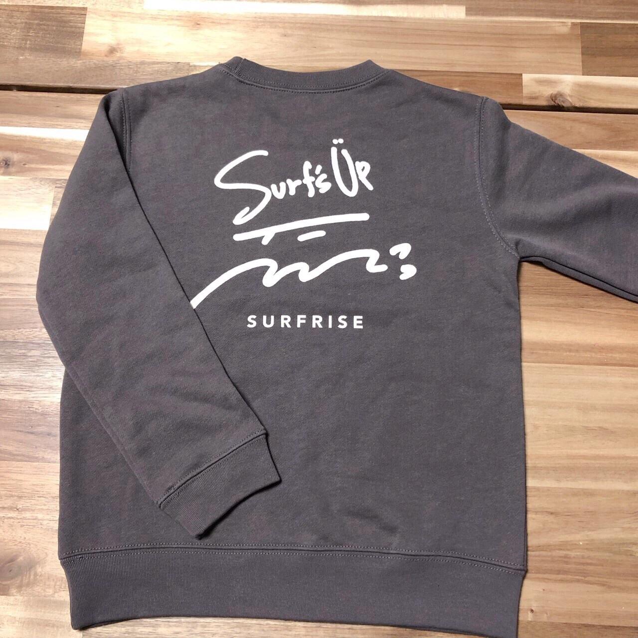 【予約販売】Surf's Up sweat - Charcoal ◆◆11月上旬~中旬発送◆◆