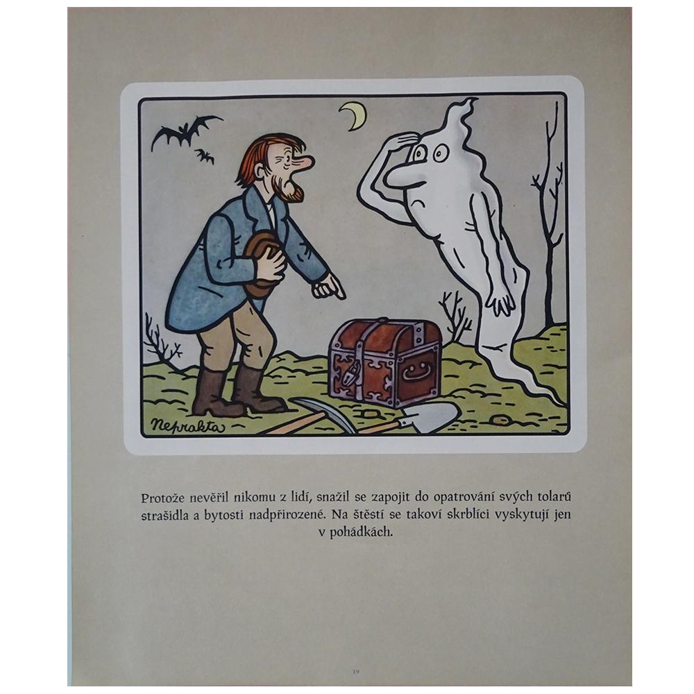 チェコ 古いポスター ネプラクタの絵つき小話 19 おばけ