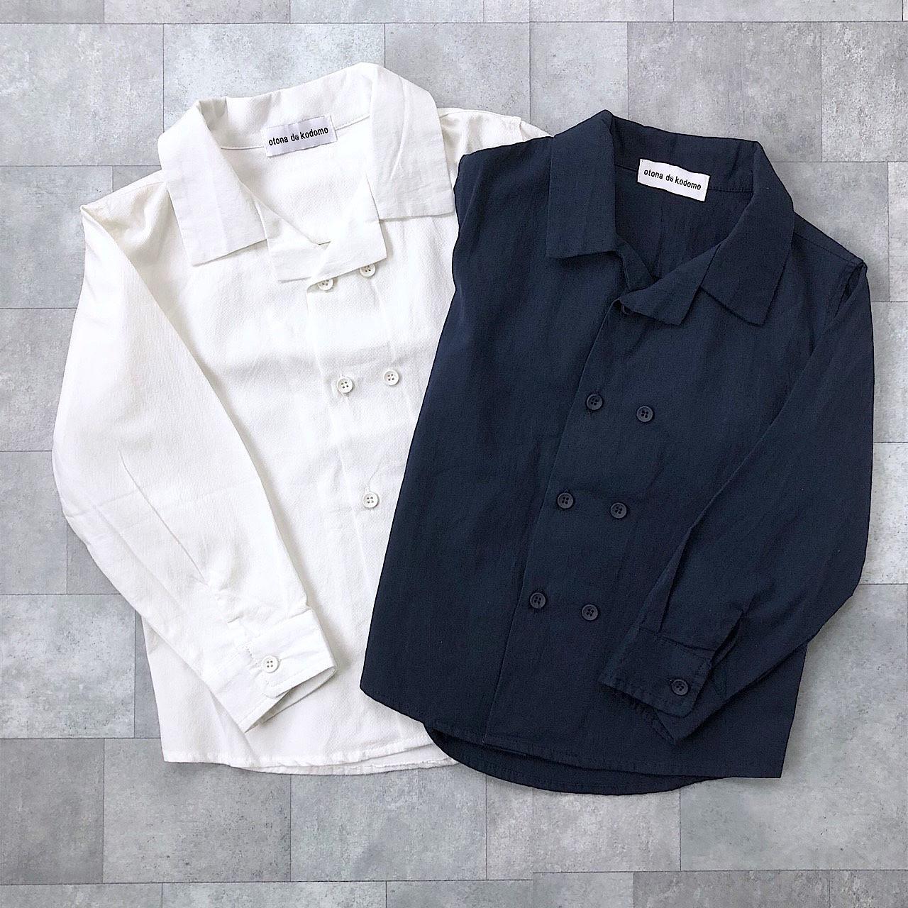 ダブルボタンシャツ(2カラー)no.801001