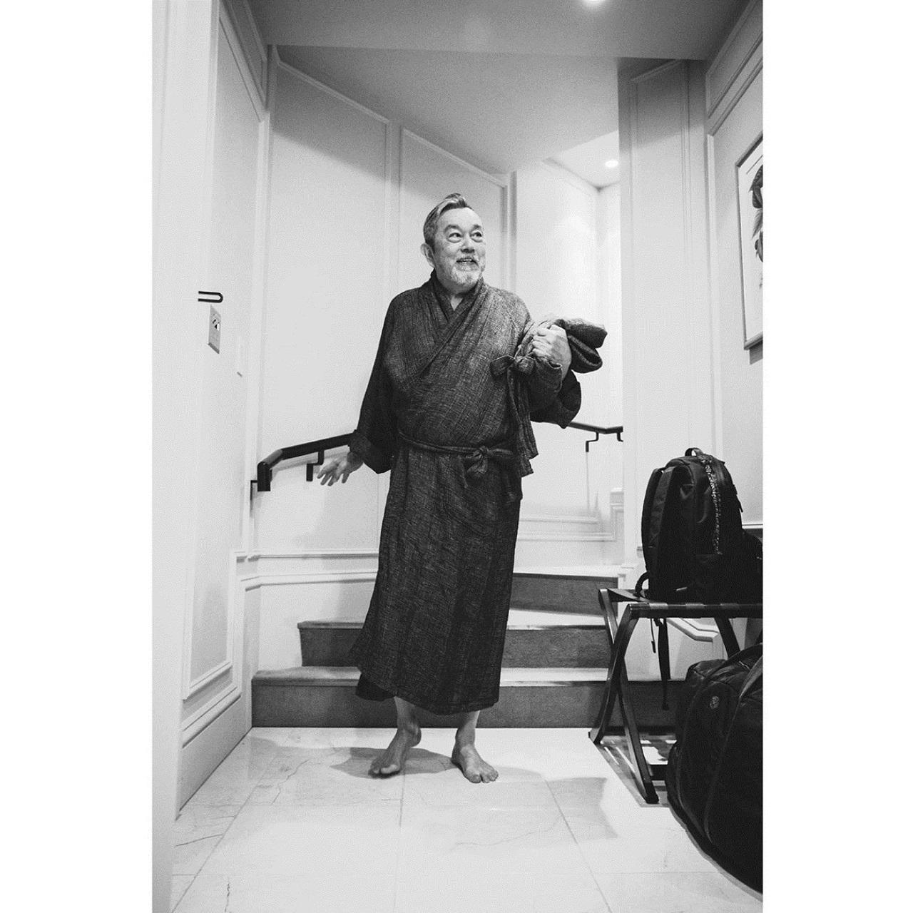 SASHIKO LINEN PREMIUM GOWN COAT