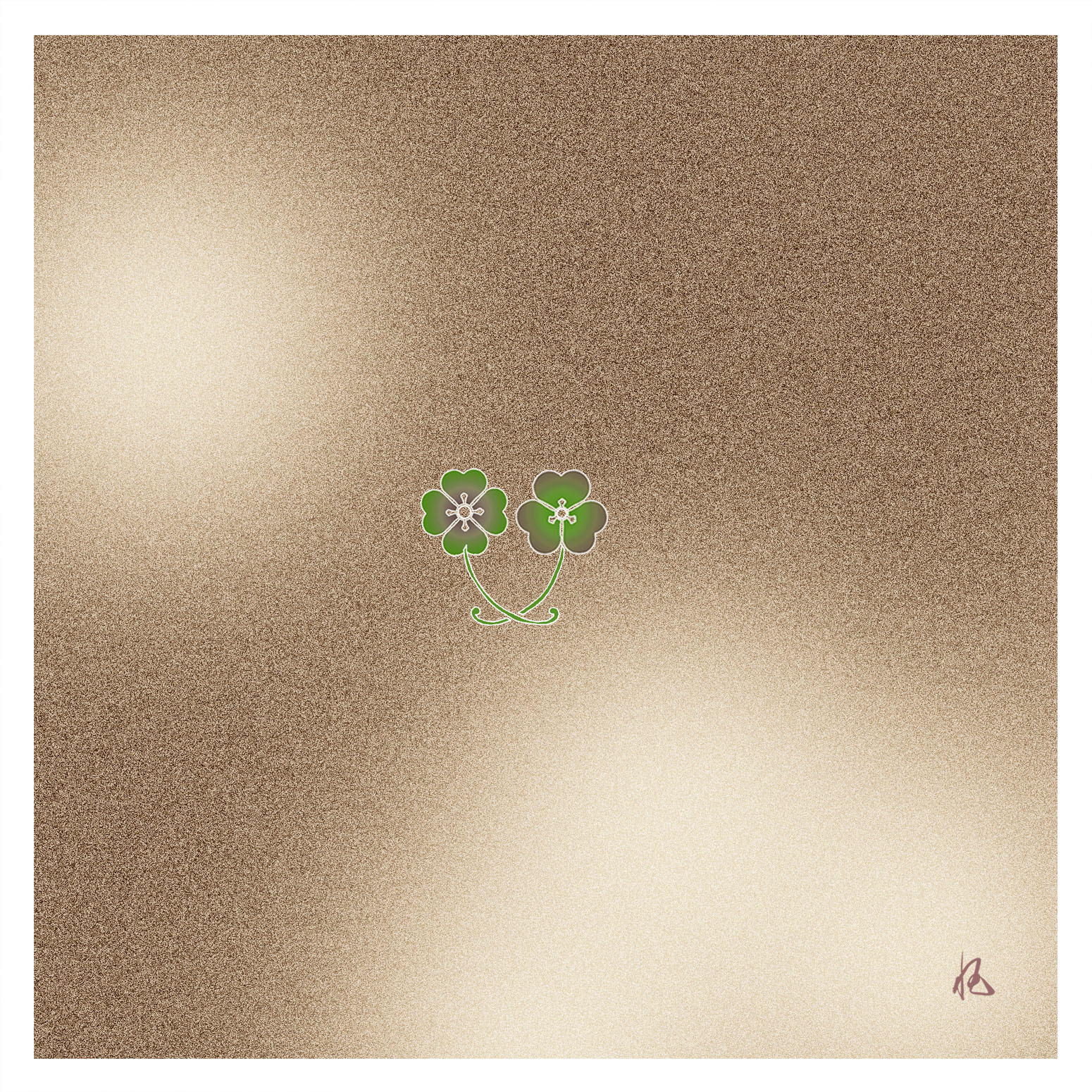 ガラス皿「そめゆら」K-04 かたばみ紋