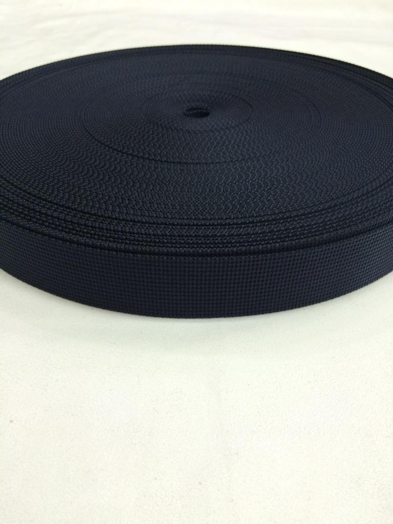 ナイロン  12本トジ織  30mm幅  1.5mm厚  黒 5m