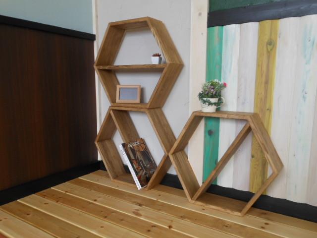 6角形シェルフ(展示使用品) - 画像4