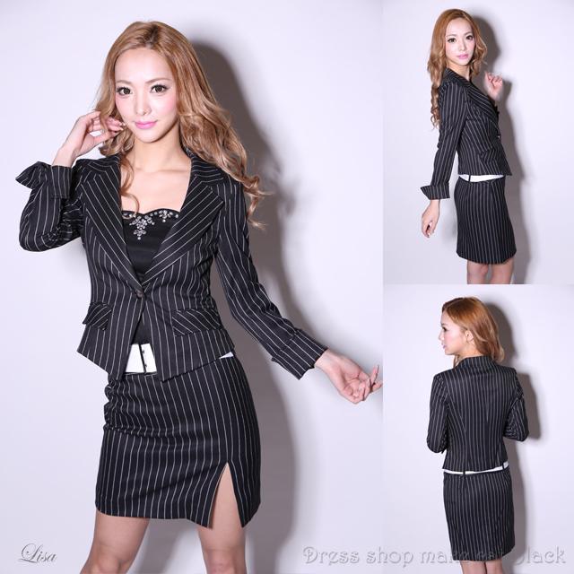 SALE(S,M,Lサイズ) ジャケット&スカートスーツ ¥10,800- (税込) キャバドレス ドレス パーティー 117000