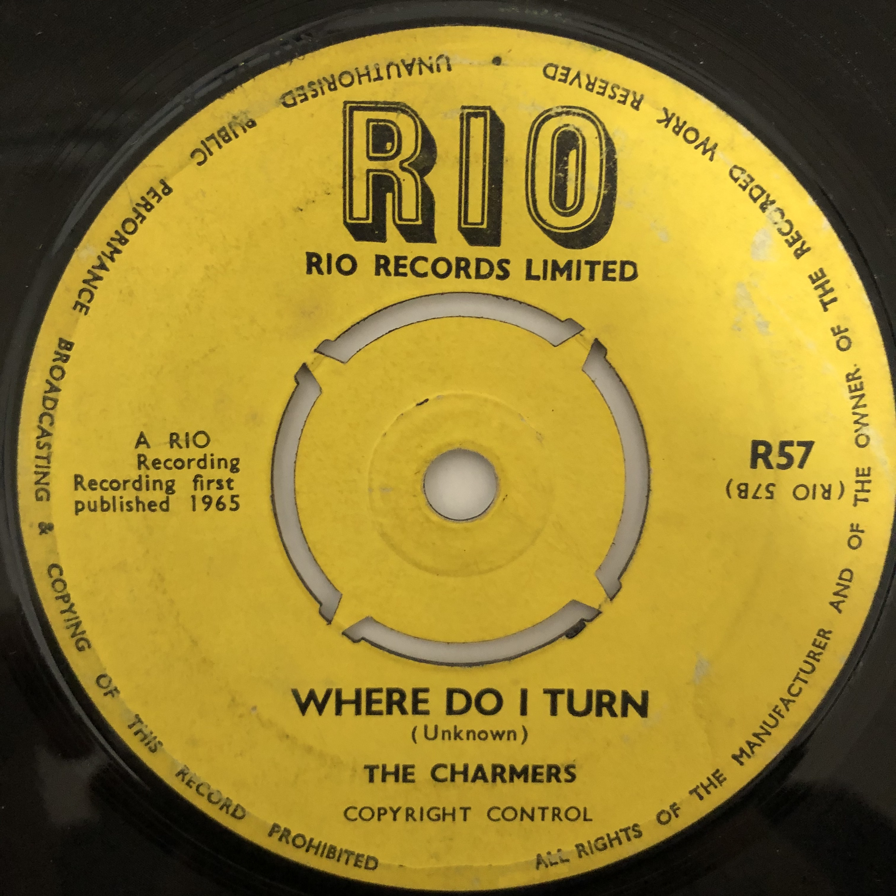 The Charmers - Where Do I Turn【7-20483】