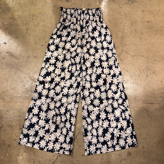 New Glory Floral Flare Easy Pants