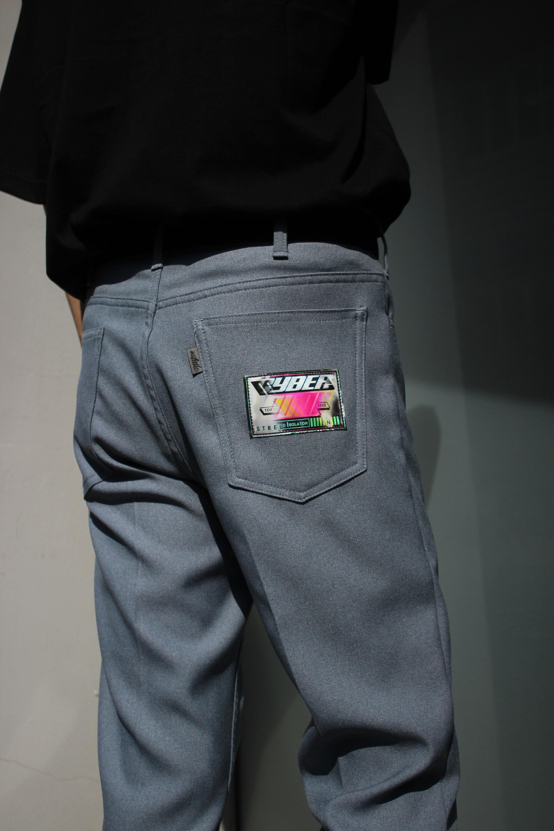 Wappen boot-cut pants / BLUE - 画像5
