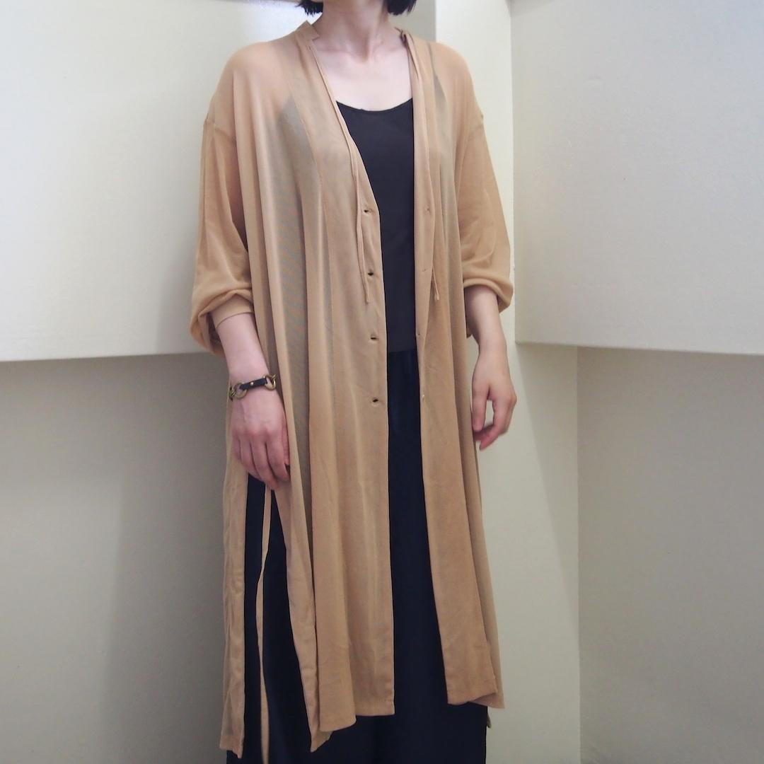 【hippiness】tulle over cardigan(beige) /【ヒッピネス】チュール オーバー カーディガン(ベージュ)