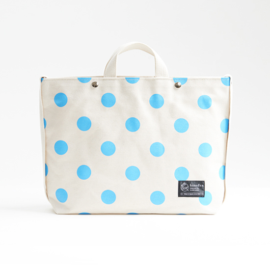 shoulder tote bag/sky × polka dot ショルダートート/ 空 x 水玉