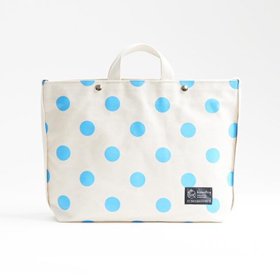 shoulder tote bag/sky × polka dot ショルダートート/ 空 x 水玉