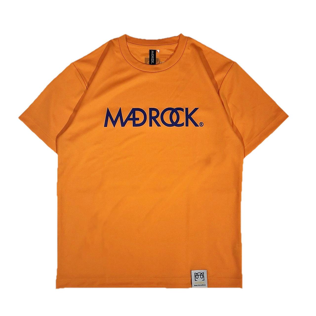 マッドロックロゴ Tシャツ/ドライタイプ/オレンジ&ブルー