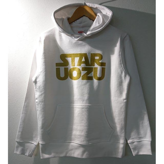 STAR UOZU パーカー ホワイト×ゴールド