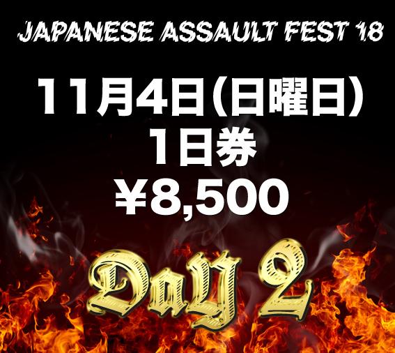 JAPANESE ASSAULT FEST 17 1日券(11/4日曜日)